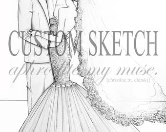 Custom Bridal Sketch