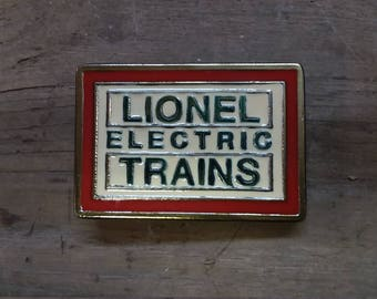 Lionel trains enamel belt buckle