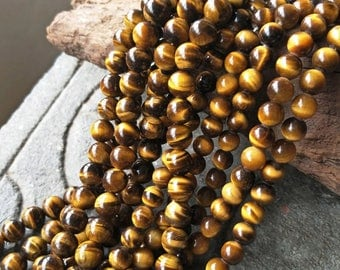 Tiger Eye Beads,Natural Stone Beads,Bracelet Beads Supply,Gemstone Beads,Jewelry Making Supply,XY081