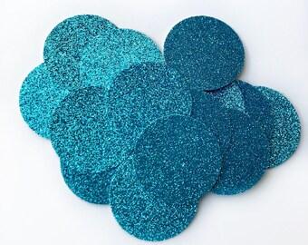 Blue Glitter Confetti, Confetti, Glitter Confetti, Blue Confetti, Turqoise Glitter Confetti, Teal Confetti, Large Confetti, Small Confetti