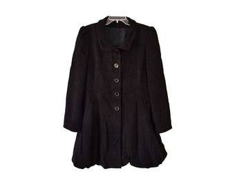 Vintage women coat virgin wool and cashmere