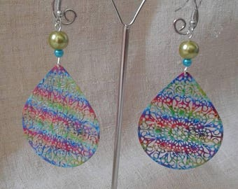 "Earrings ""multicolor floral charm"""
