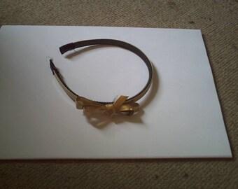 Golden Butterfly bow headband