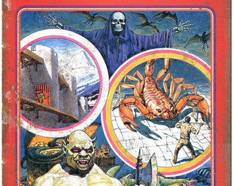 """Dungeons and Dragons Treasure of Tarmin 10"""" x 7"""" Reproduction Metal Sign G104"""