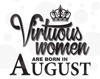 Virtuous women svg, Birthday svg
