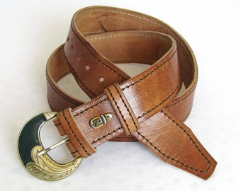 Woman's Leather Belt, New Leather belt, Belt, Brown Leather Belt, Ladies Leather Belt, Hand Tooled Leather Belt, Woman's Leather Belt