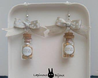 Ferrero Rocher earrings.