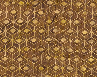 Tonga batik Brown and beige collection Chai patchwork fabric