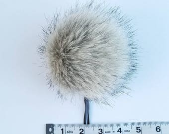 Faux Fur Pom Poms, Fur Pom Poms, Pom Poms, Pom Poms for Hats, Pom Poms for Makers