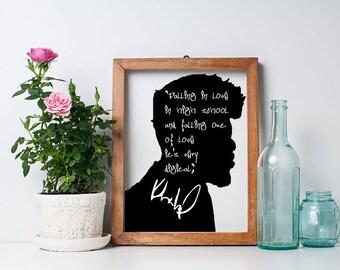 "Khalid ""Falling in love"" Art Print"