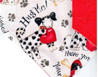 Best Friends | Valentines Day Dog Bandana | Dog Bandana | Puppy Bandana | Pet Bandana | Over the Collar Bandana