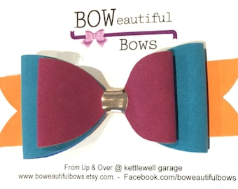 Hair bow large suedette