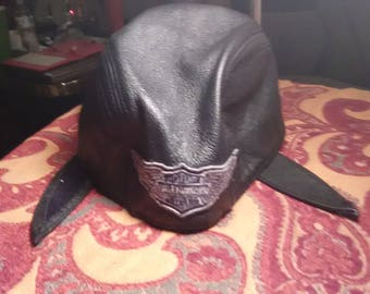 Harley Davidson Leather Skull Cap