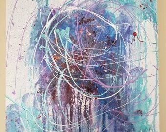 24x30 original modern abstract art painting