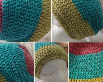 Ready to Ship - Sweettarts Beanie / Slouch hat / Tam