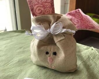 Easter bunny drawstring bag
