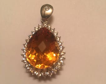 Beautiful AAA+16.90ct Madeira Citrine Pendent