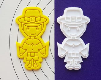 Pilgrim Boy Cookie Cutter and Stamp