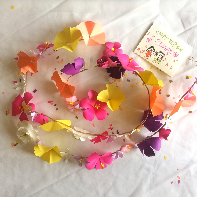 Free shipping us paper flowers flower garland luau moana free shipping us paper flowers flower garland luau moana hawaiian izmirmasajfo Gallery
