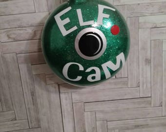 Elf cam- Santa cam- Santa camera ornament- Christmas kids- Gift under 10- Holiday ornament- Christmas tree- Santa cam tree- Elf on shelf