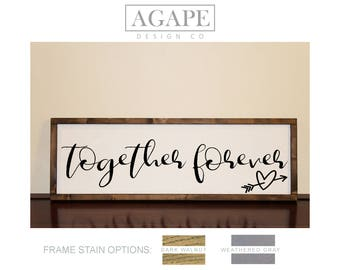 Together Forever Wood Wall Sign by Agape Design Co