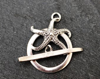 Sterling Silver Starfish Toggle Clasp