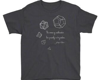 Five Platonic Solids youth t-shirt
