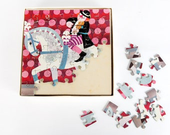 Vintage Jigsaw Puzzle-Clown on Horse