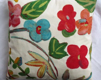 Beautiful floral canvas pillow