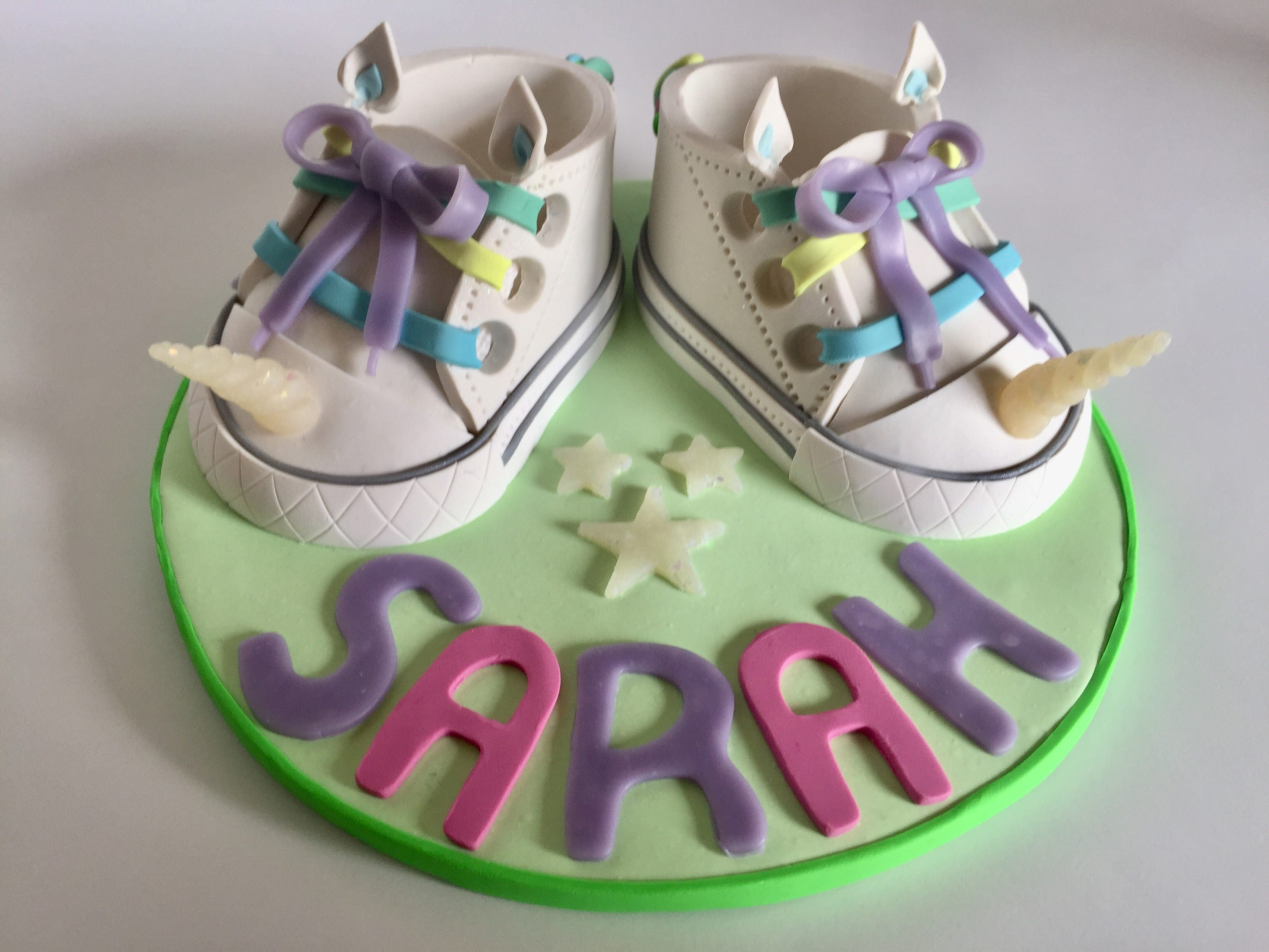 Unicorn Baby Shoes Cake Topper Baby Shoes Cake Topper Unicorn