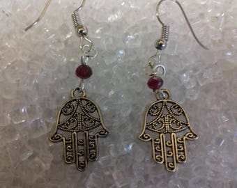 Hamsa hand earrings / hand of fatima