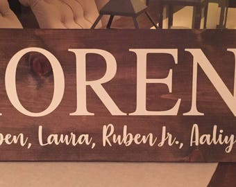 Family Name Sign - Free Shipping!