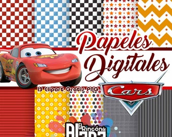 10 digital papers 12 x 12 Cars + 13 free Clipart