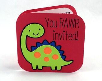 Dinosaur Invitations - Dinosaur Birthday Invitations - Dinosaur Party - Dinosaur Invites - Dino Party - Dino Birthday Party - Dino Invites