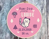 Cross Stitch Birth Announ...