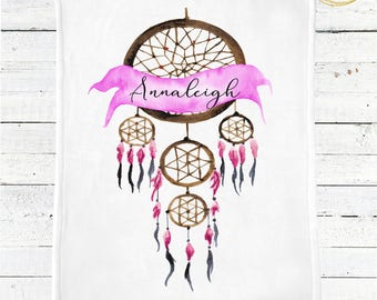 Dreamcatcher Baby Blanket / Boho Baby Blanket / Boho Nursery Bedding / Dreamcatcher Baby Shower Gift / Boho Baby Bedding / Personalized Baby