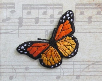 Butterfly patch for ironing 7 by 4 cm