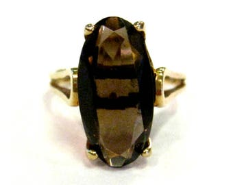 10K Smoky Quartz Ring - X3020