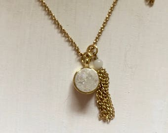 Gold Stone & Chain