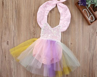 Unicorn baby girl, girls, Toddler romper with tutu, dress, costumes,1st Birthday outfits, Photo shoots outfits