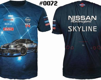 New ultramodern 3D  High Quality  Nissan MotorsportSkyline   Men's T-shirt