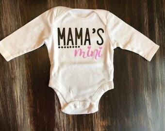 Mama's Mini Infant Longsleeve Onesie
