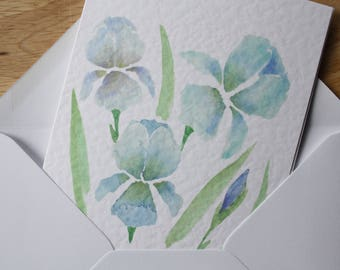 Iris greetings card | Watercolour print