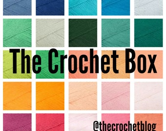 The Crochet Box!  Monthly subscription of crochet goodies | patterns | yarn | Hooks | suprise gifts