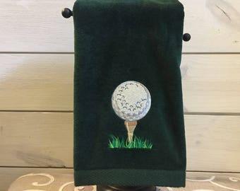 Embroidered Golf Towel - Gift for Dad - Golf Gift - Embroidered Golf Bag Towel - Golf Towel - Gift for Him
