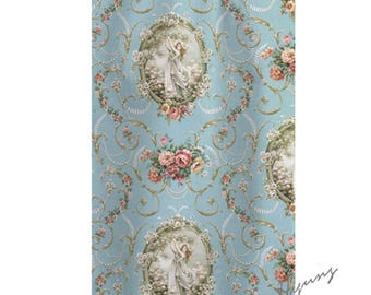 Le Jardin Secret-high quality fabrics, Victorian, French style 1/2 yards (45cm) hd003010101