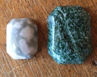 Cabochons Rectangle Gemstones 2pc