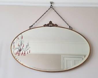 1920's Copper framed Crested Mirror