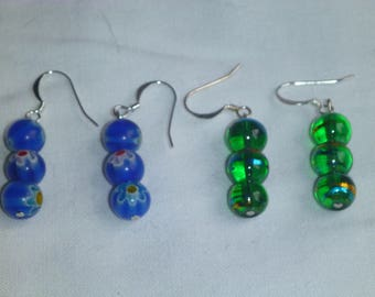 Circle bead earrings