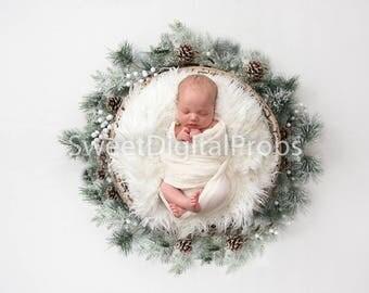Digital Backdrops/Props Newborn Photography (Christmas)